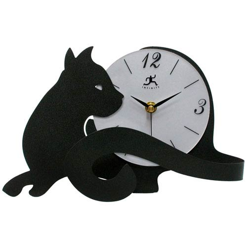 Infinity Instruments Cat Tail Tabletop Clock