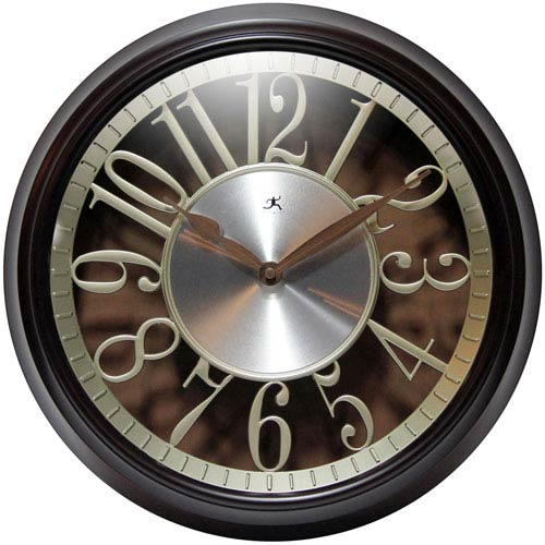 Infinity Instruments Walnut Wall Clock