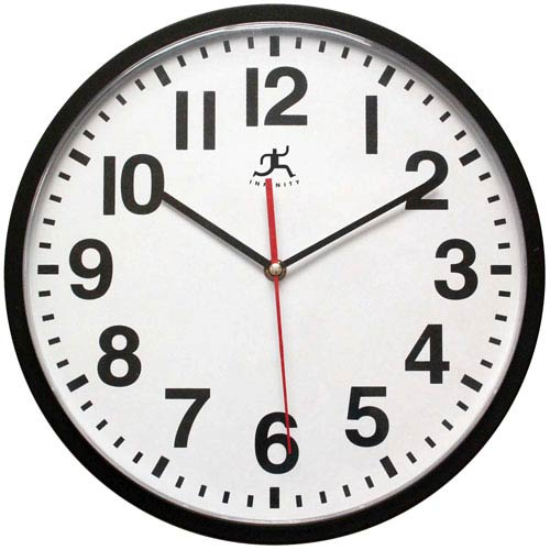 Infinity Instruments Black Wall Clock