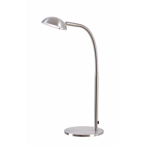 Basis Brushed Steel LED Desk Lamp