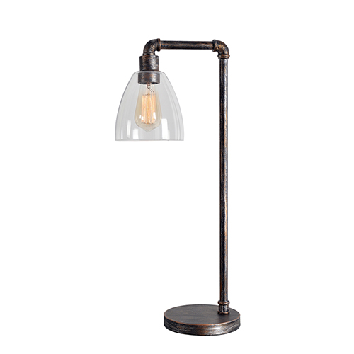 Steam Fitter Vintage Metal One-Light Desk Lamp