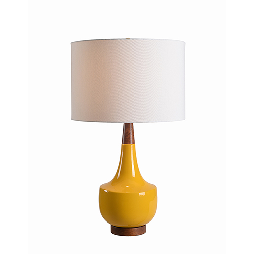 Tessa Mustard Ceramic One-Light Table Lamp