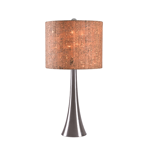 Bulletin Brushed Steel One-Light Table Lamp