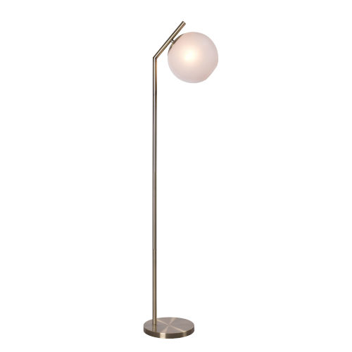 Simon Antique Brass One-Light Shaded Floor Lamp
