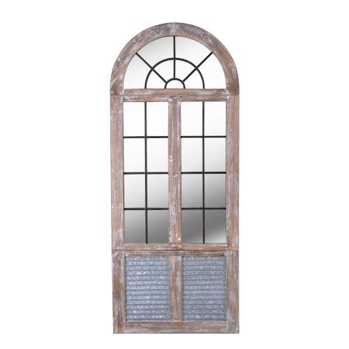 Eldorado Distressed Wood, Galvanized and Iron Full Length Mirror