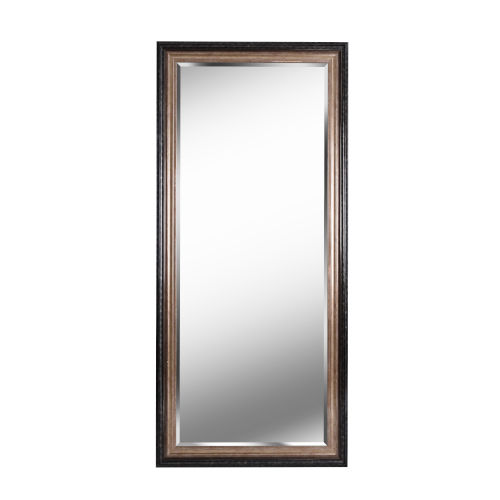 Lyonesse Destressed Black and Antique Gold Full Length Mirror