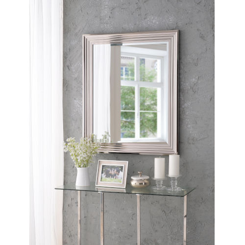 Lyonesse Chrome 36-Inch Wall Mirror