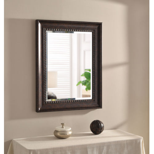 Amiens Bronze and Gold Highlight 24-Inch Wall Mirror