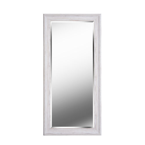Warren Distressed White Wood Full Length Mirror