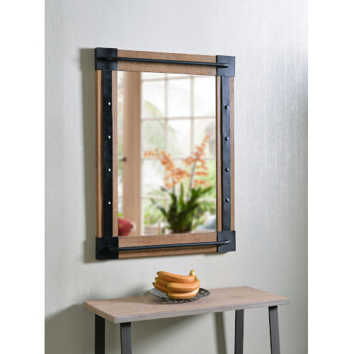 Kestrel Reclaimed Wood and Matte Black Wall Mirror