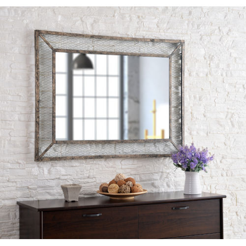 Grover Weathered Brown 30-Inch Wall Mirror