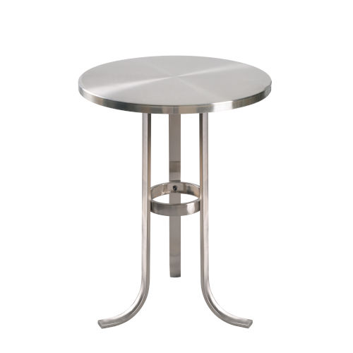 Levant Brushed Steel End Table