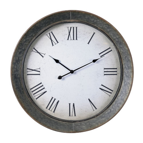 Antillean Galvanized Wall Mounted Clock