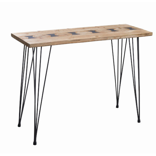Farfalle Natural Wood and Iron Console Table