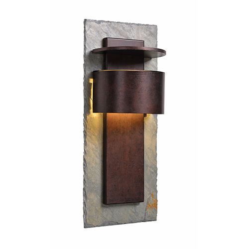 Kenroy Home Pembrook Natural Slate with Copper One-Light Extra Large Wall Lantern