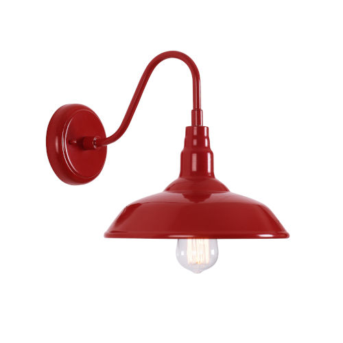 Dale Matte Red 10-Inch One-Light Outdoor Wall Mount