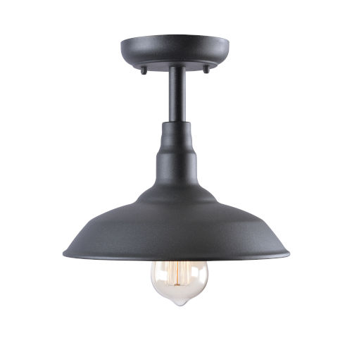 Dale Black Outdoor Semi-Flush Mount
