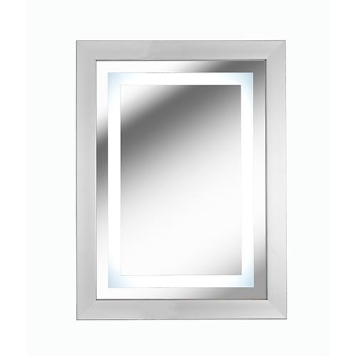 Gaper Brushed Nickel LED Mirror