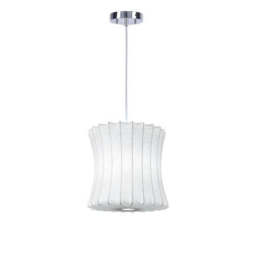 Hampton White One-Light Pendant