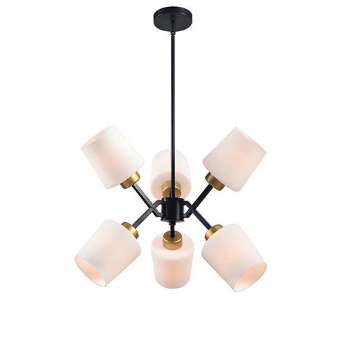 Black gold chandelier bellacor kenroy home draper gold and matte black six light chandelier aloadofball Image collections