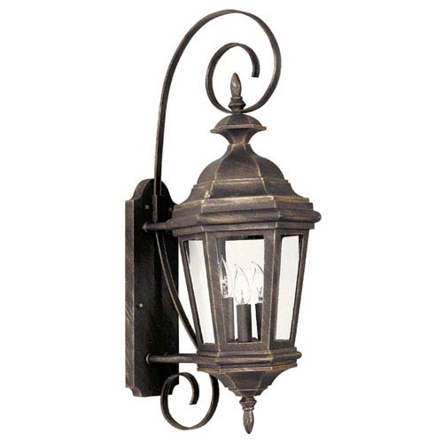 Estate Three-Light Outdoor Wall-Mounted Lantern