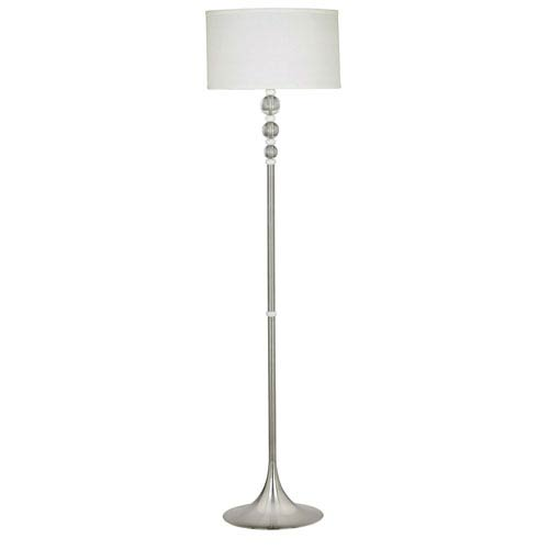 Luella Brushed Steel Floor Lamp
