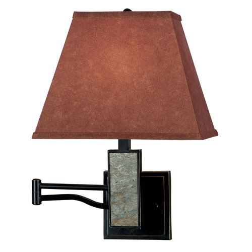 Dakota Oil Rubbed Bronze with Slate Accent Swing Arm Wall Sconce