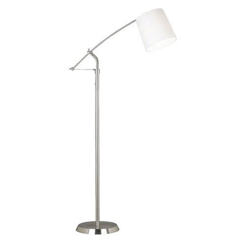 Reeler Brushed Steel Floor Lamp