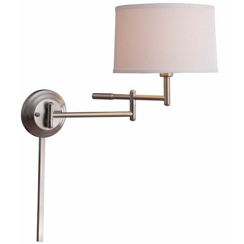 Theta Brushed Steel Wall Swing Arm Lamp