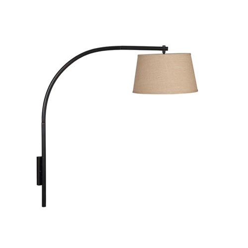 Sweep Large Oil Rubbed Bronze Wall Swing Arm Lamp