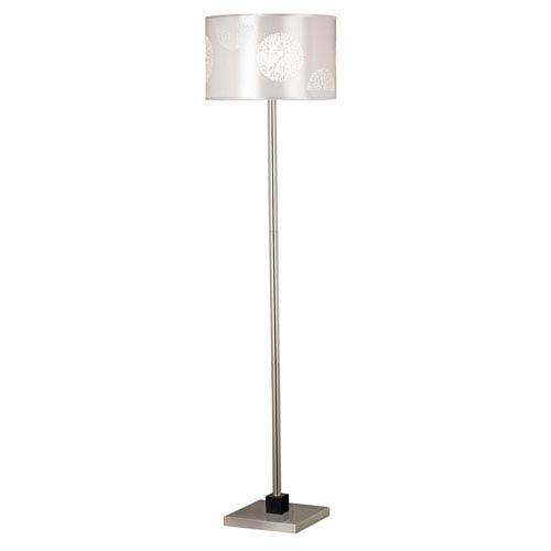 Cordova Brushed Steel Floor Lamp