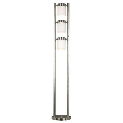 Kenroy Home Matinee Brushed Steel Floor Lamp