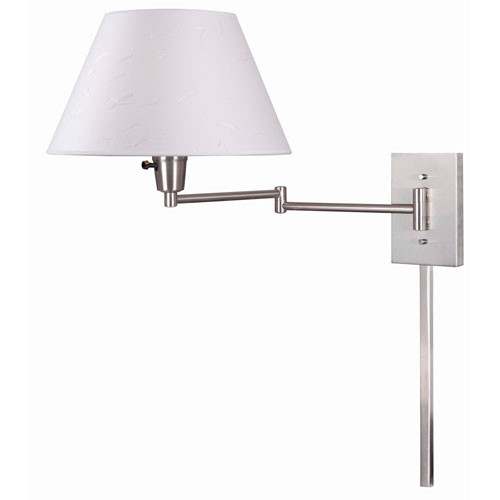 Simplicity Brushed Steel Swing Arm Wall Lamp