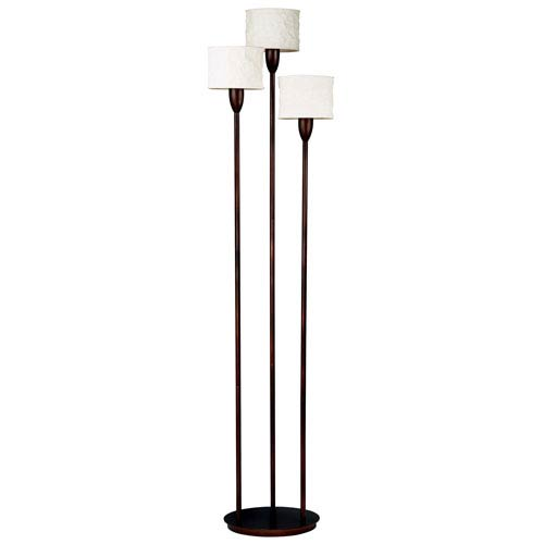 Kenroy Home Crush Oil Rubbed Bronze Three-Light Torchiere Floor Lamp