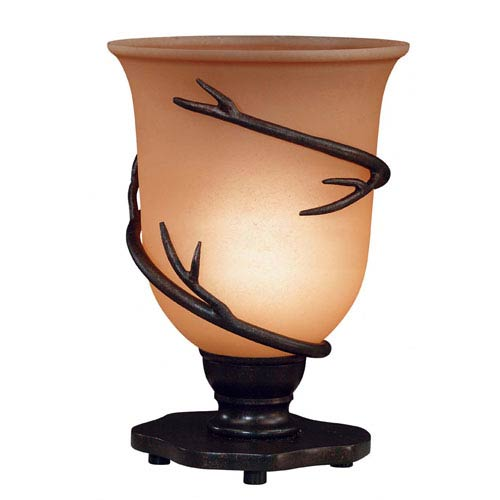 Twigs Bronze Table Torchiere Lamp