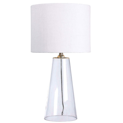 Boda Clear Glass One-Light Table Lamp