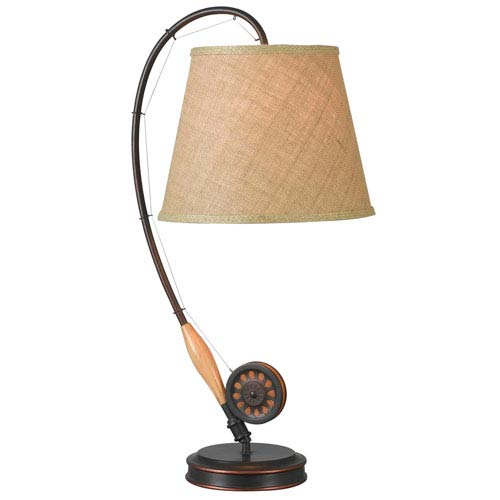 Kenroy Home Fly Rod Oil Rubbed Bronze Table Lamp