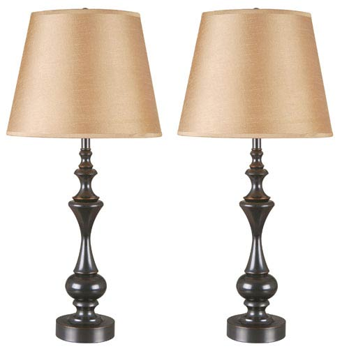 Kenroy Home Stratton II Oil Rubbed Bronze Two-Pack Table Lamp