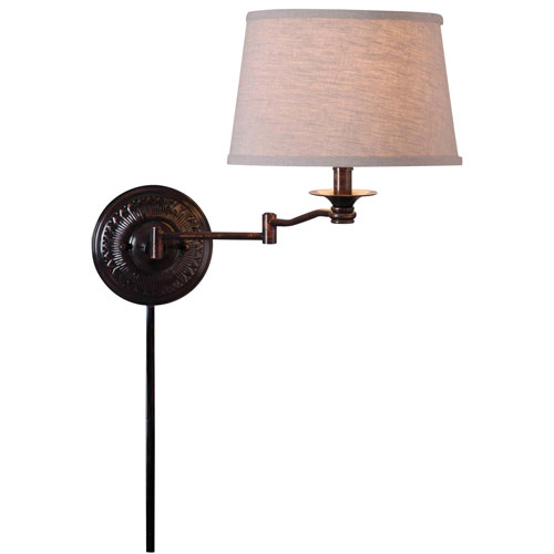Kenroy Home Riverside Copper Bronze Wall Swing Arm Lamp