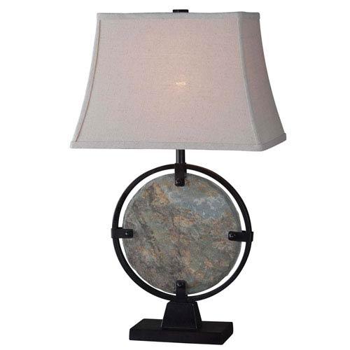 Kenroy Home Suspension Natural Slate Table Lamp
