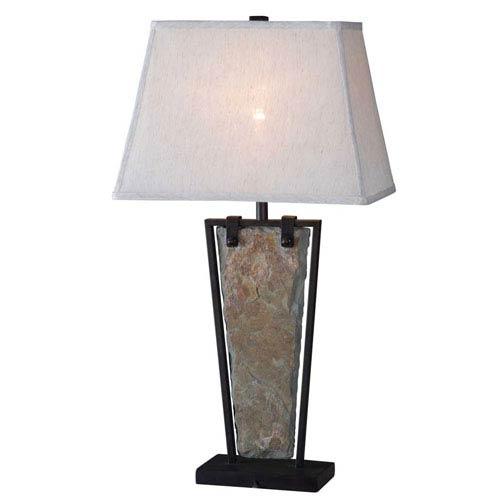 Kenroy Home Free Fall Natural Slate Table Lamp