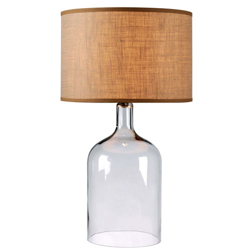 Kenroy Home Capri Clear Glass Table Lamp