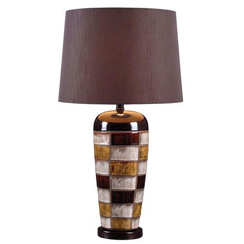 Kenroy Home Torino Ceramic Multicolored Squares One Light Table Lamp
