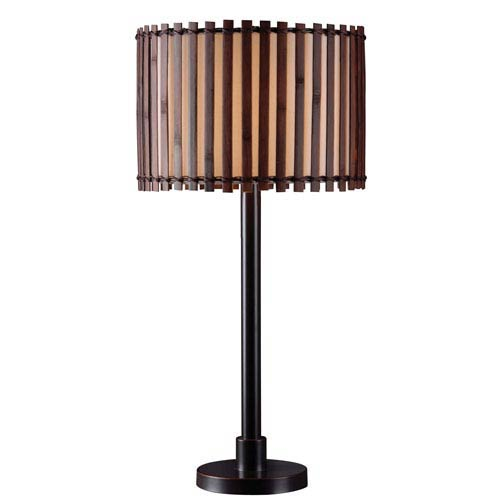 Kenroy Home Bora Bronze One Light Outdoor Table Lamp