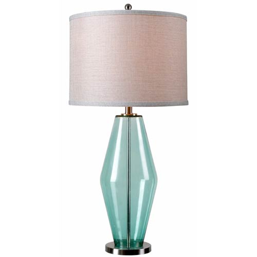 Azure Teal Glass One Light Table Lamp