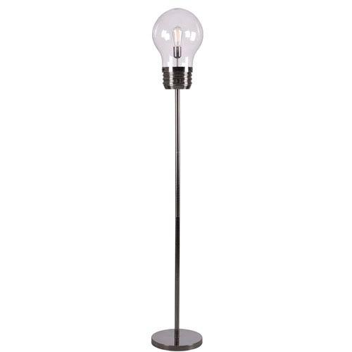 Edison Antique Brass One-Light Floor Lamp