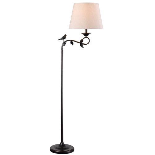 Birdsong Oil Rubbed Bronze One-Light Swing Arm Floor Lamp