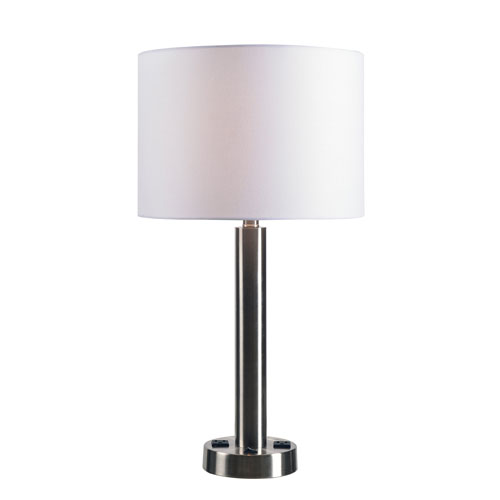Hemlock Brushed Steel 14-Inch One-Light Table Lamp