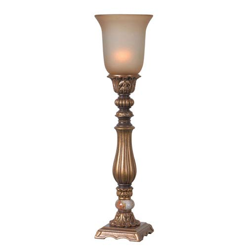 Exceptionnel Turner Gold Antiqued One Light Table Torchiere