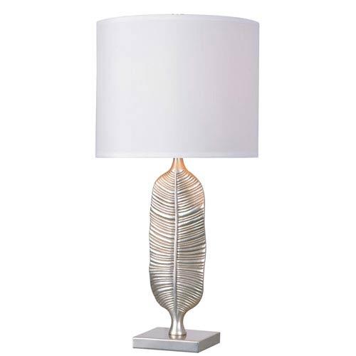 Kenroy Home Calathea Silver One-Light Table Lamp